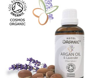 Argan Oil Infused With Lavender Essential Oil (Soil Association Certified Organic Moroccan Argan Oil Infused With Lavender)