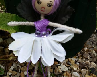 Purple and white Flower Fairy with Gem belt