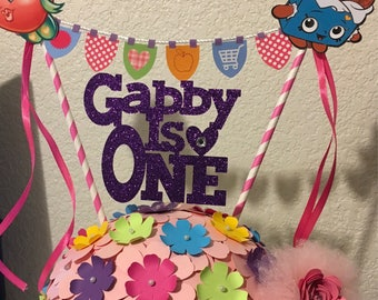 Shopkins personalized centerpiece any color of choice .