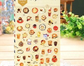 Diasyland Cute Coffee Art Sticker