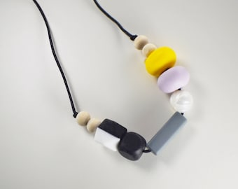 Statement BPA free teething necklace
