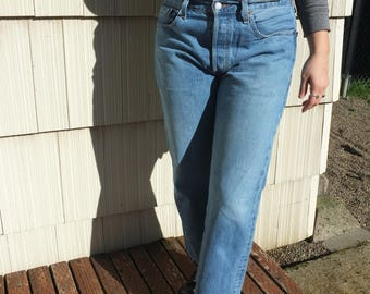 Super Soft Worn Levi's 501s Waist 30/31