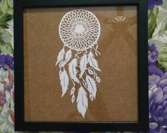 Paper cutting artwork -Dreamcatcher