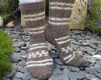 Hand knitted wool socks from the Himalayas