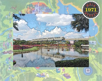EPCOT Flower and Garden Festival Monorail Pastel INSTANT DOWNLOAD