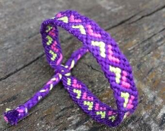 Friendship bracelet,hand woven ,pure cotton,boho,hippie