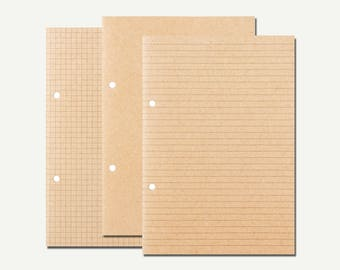 Muji, Refill Notebook - refill paper, Muji journal, Muji stationery, binder refill, folder refill, planner refill, grid, blank, ruled, A5
