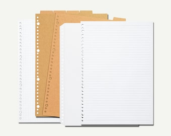 Muji, Refill Paper, Refill Index, Refill Pocket - Muji notebook, Muji journal, Muji stationery, binder refill, folder refill, A4, A5, B5
