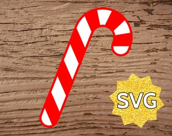 Candy Cane SVG file for Cricut & Silhouette - Christmas Candy Cane SVG files