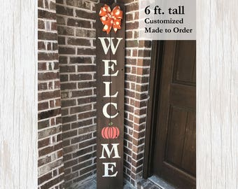 Seasonal Decor, Fall Seasonal Decor, Fall Decor, Seasonal Sign, Welcome Sign, Welcome Porch Sign, Pumpkin Decor, Pumpkin Sign, Fall Welcome