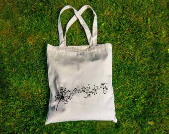 Flying Music Notes| Eco-friendly Canvas Tote Bag | Screen Print Design | Illustrated Tote Bag |