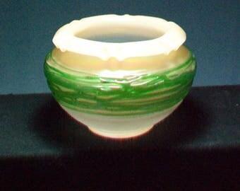Loetz Art Glass Ruffled Bowl