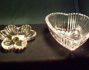 Two Waterford Crystal Pin Dishes