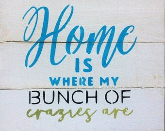 Home Entryway Sign, Rustic Home Decor, Barnwood Decor, Wood Signs