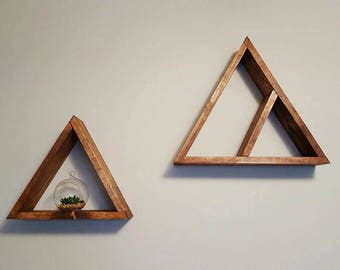 Large Triangle Shelf with Removable Shelf