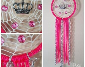 Hot pink princess dream catcher