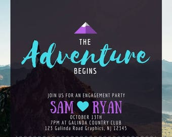 Adventure Engagement Party Invitation