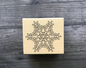 Small Snowflake Wooden Stamp