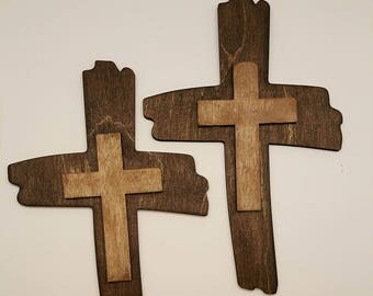 overlap laser cut wood cross
