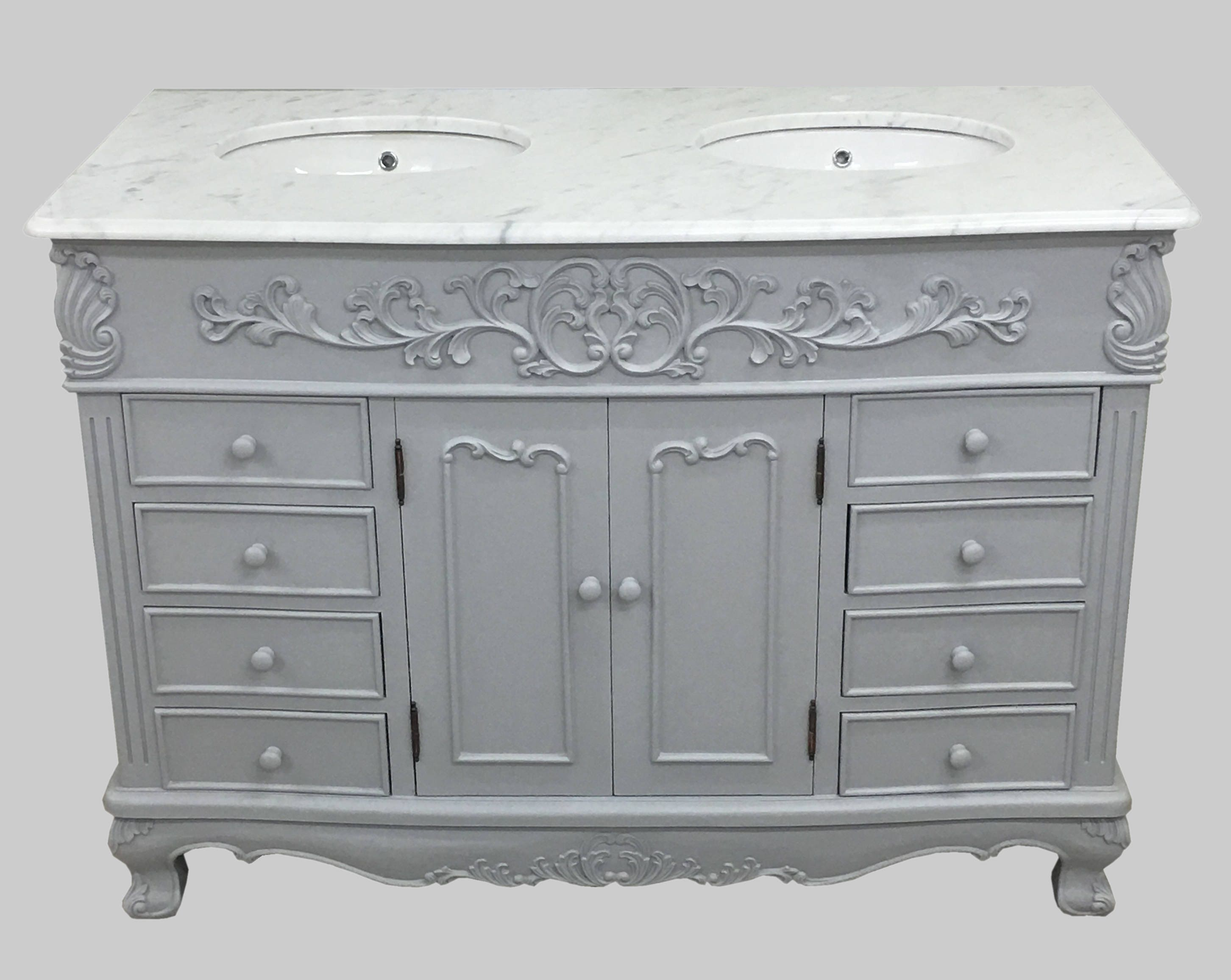 Louis Xvi Traditional French Style Bathroom Double Sink Vanity