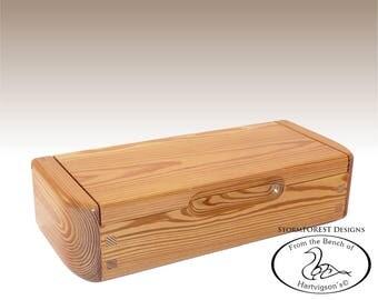 Antique Reclaimed Heart Pine Mini Chest/Desk Box, Made in Alaska, Ser.#SB2016-0808