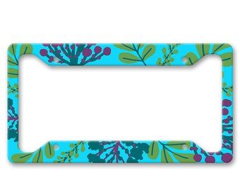 Bright Coral All Over Pattern Print - Underwater Sea Ocean - Auto License Plate Frame - LP1458