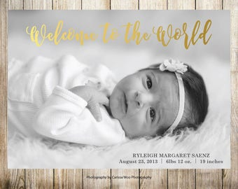 Birth Announcement - Welcome to the World