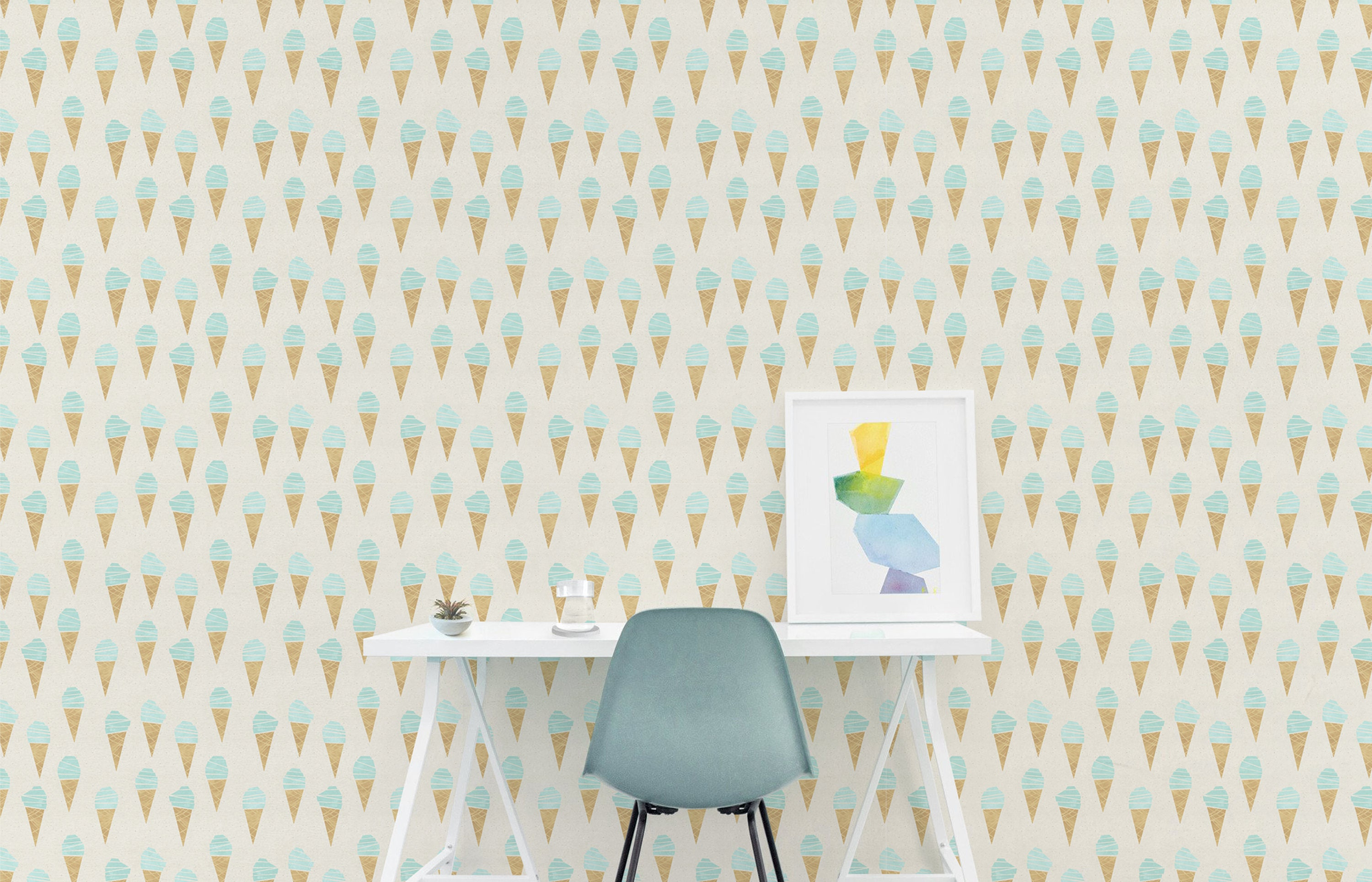 Ice Cream Wallpaper Removable Wall Decor Peel and Stick
