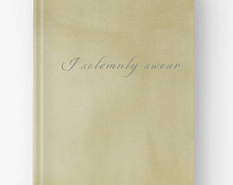 I Solemnly Swear | Hardcover Journal Notebook | Writing journal, blank lined graph