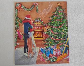 Merry Christmas Drawing (print)