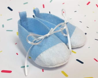 Charlie Booties 3 - 6 Months, blue baby shoes, baby shoes, crib shoes, baby shower