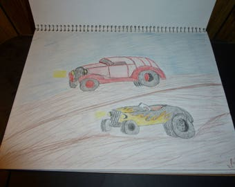 2 old hot rods 8x10