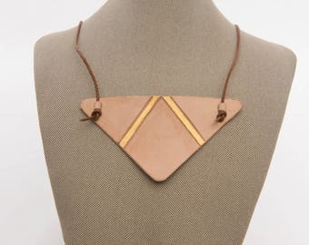 Leather Statement Necklace