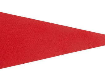 Solid 12 Red Felt Blank Pennant Flag Assorted sizes and Prices   See Description