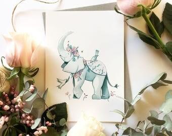Elephant print (Spring Elephant)