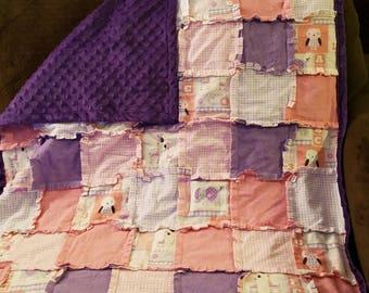 Animal baby rag quilt