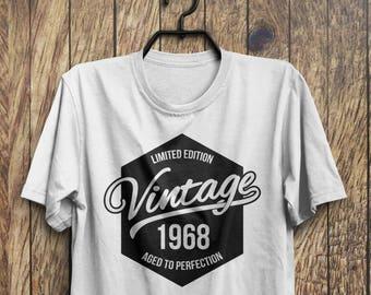 50th Birthday T-shirt, 1968 Shirt, 50th Birthday Gift, Vintage 1968 Shirt, Made in 1968 Shirt, 50 Birthday Present, 50th Birthday Idea M13