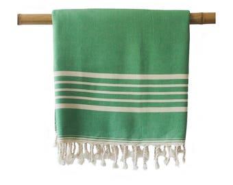 Free Shipping SIA Green Turkish Towel Peshtemal