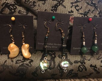 Stone Earrings/Wire Wrap