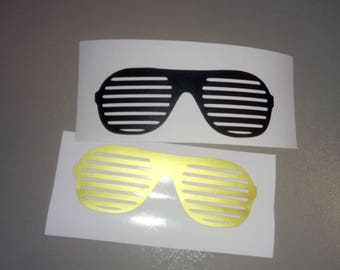 Sunglasses Iron on Decal,  Heat Transfer decal, baby shower party,