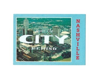 Screenprinted vintage postcard - Leave the City Behind