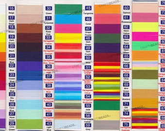 Solid - 0.6MM 100% Nylon Twisted Cord Thread Micro Macrame Beading Crochet Hand Neddle Crafts - 300yards/tube