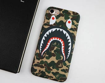 Bape Green Camo Glow In The Dark Case For Iphone 6 6Plus 7 7Plus #ElevatedCases