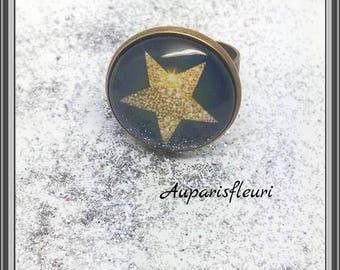 Star bronze Adjustable ring
