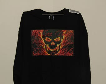 Black XrayVision Skull Logo Long Sleeves