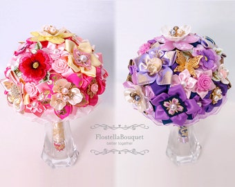 Korean Traditional Style, Wedding, Bouquets, Bridal, Bridesmaid, Fabric bouquet, Brooch bouquet, Full price, Express shipping