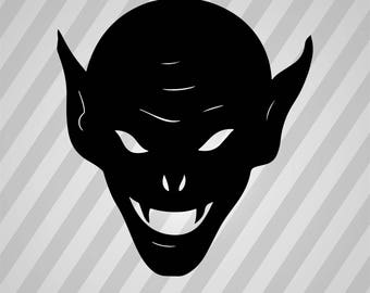 Devil Silhouette - Svg Dxf Eps Silhouette Rld RDWorks Pdf Png AI Files Digital Cut Vector File Svg File Cricut Laser Cut
