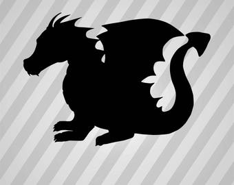 Dragon - Svg Dxf Eps Silhouette Rld RDWorks Pdf Png AI Files Digital Cut Vector File Svg File Cricut Laser Cut