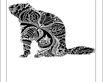 groundhog silhouette papercut template paper cut silhouette pdf line art cut files