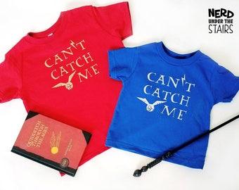 Can't Catch Me Snitch Kids Shirt / Youth T-Shirt Wizarding Kids Shirt / Toddler Wizard Sports Shirt / Nerdy Kids T-Shirt, Wizarding World